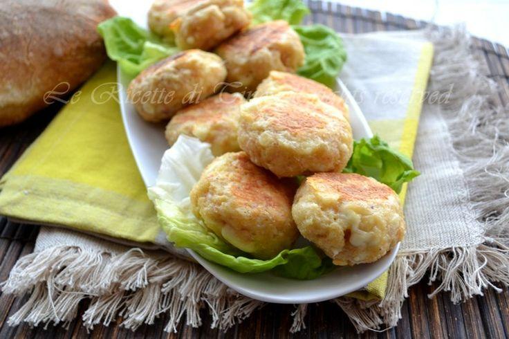 Polpette di pane formaggio e prosciutto