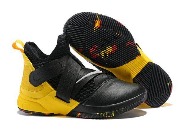 27f2543344e6c Nike LeBron 12 Men s Basketball Shoes Black Yellow  SIM006042 in ...