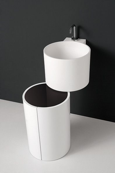 #storage integrated item available in different materials and #colors.Tambo collection by Inbani. #bathroom #furniture