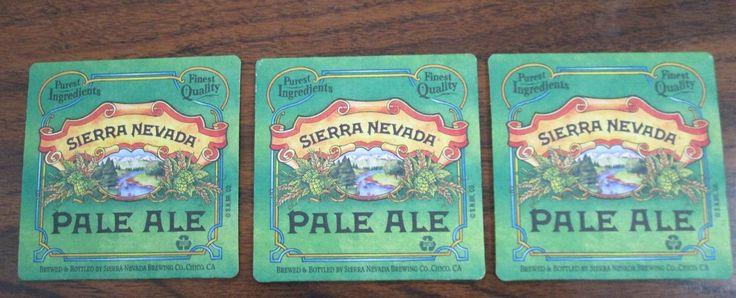3 Sierra Nevada Pale Ale Beer & Drink Coasters, Senor Froggy's Bahamas