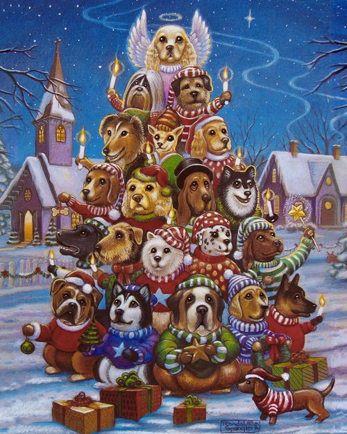 Canine Christmas Tree - 1000pc Jigsaw Puzzle by Vermont Christmas