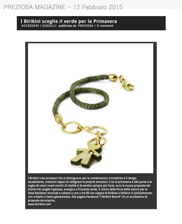Preziosa Magazine parla dei #bijoux #birikini