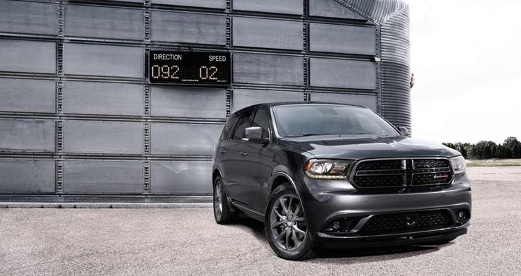 2014 Dodge Durango R/T in Granite Crystal Metallic features LED daytime running lamps and projector fog lamps. Visit http://www.jimclickdodge.com/