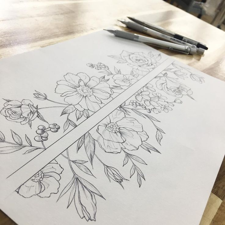 I don't like the flowers here but I like the idea of a spine tattoo that leaves the spine blank.