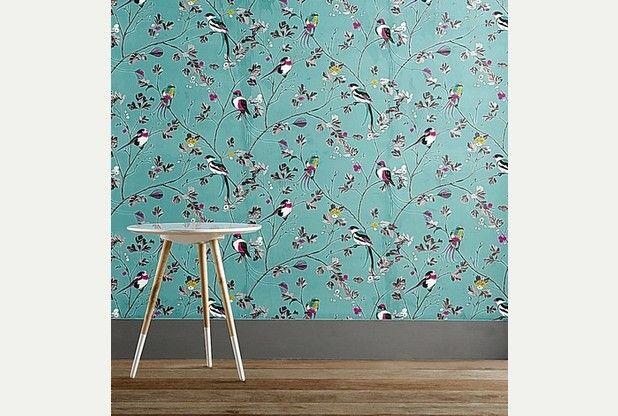 Interior style: Blueprint for a bright new springtime look - Teal bird wallpaper next homeware
