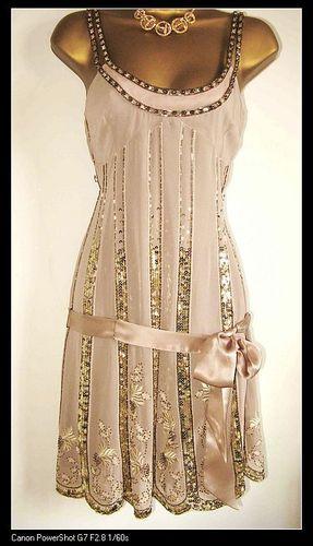 Stunning KAREN MILLEN RARE PINK SEQUIN FLAPPER DRESS UK 14 New | eBay