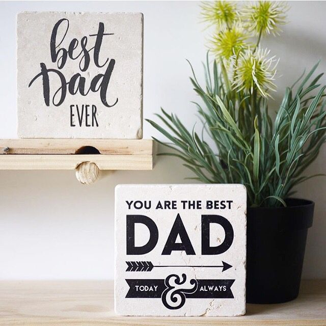 Fathers Day stone prints by Arlo & Co