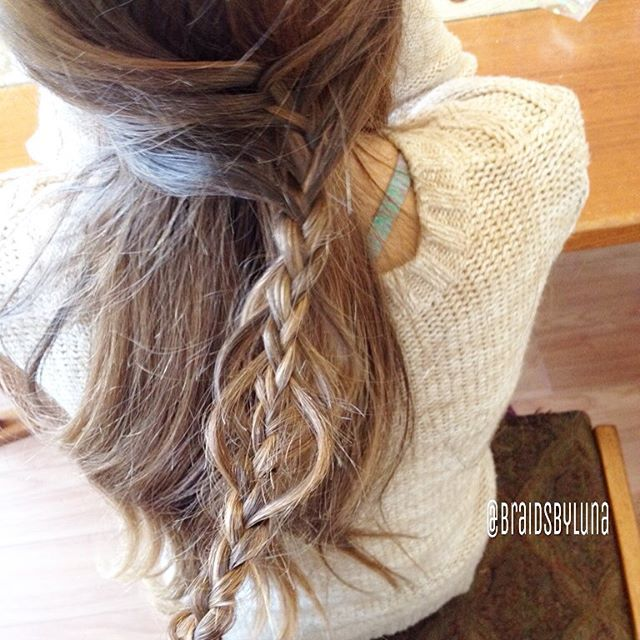 A little messy, but here's a #cghmermaidbraidcombo @cutegirlshairstyles