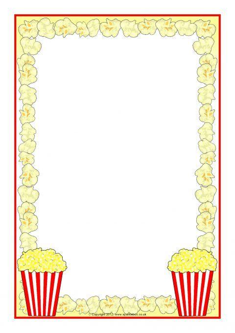 Popcorn A4 Page Borders (SB8252) - SparkleBox