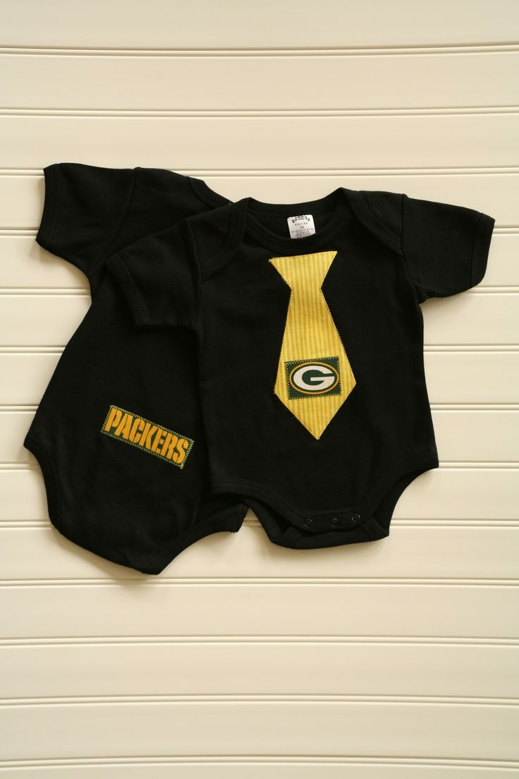 Green Bay Packers Tie Onesie or Shirt. $14.00, via Etsy. My future grand baby is defiantly getting this This is just to sweet!