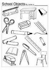 Home > classroom worksheets > Classroom Objects Colouring ...