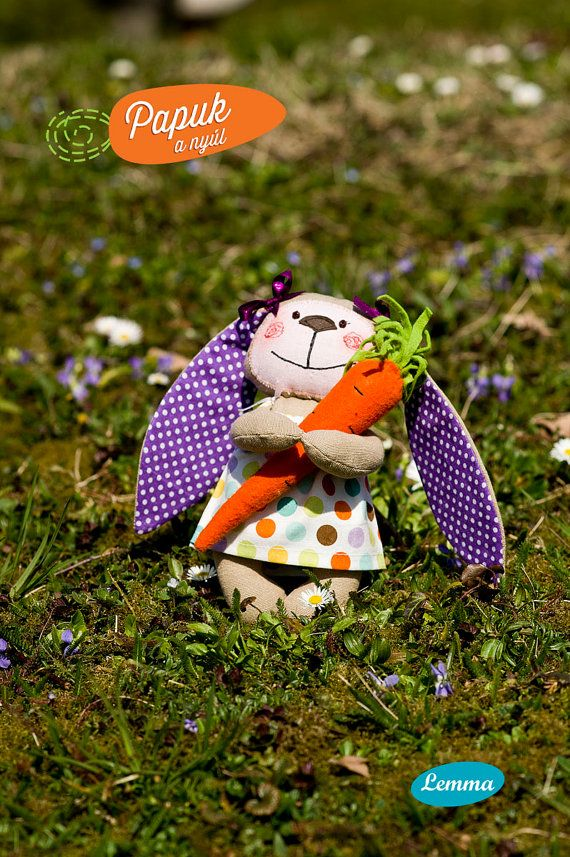 Papuk the rabbit / Lavender by LemmaShop on Etsy