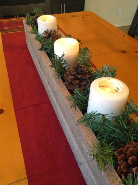 Salt and Pepper Moms: Rustic Christmas Centerpiece