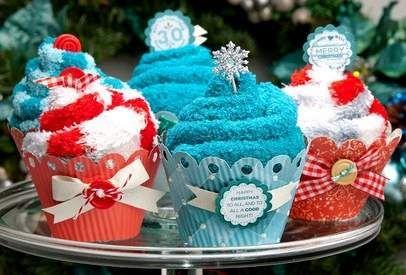 spa socks cupcakes~ great gift idea!