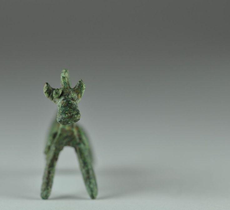 Amlash bronze horse, 1st millenium B.C. 4.6 cm long. Private collection