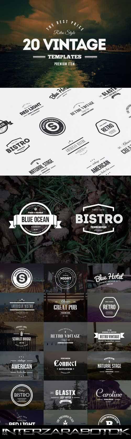 Винтажные Логотипы - 20 Vintage Logos & Badges Vol. 2