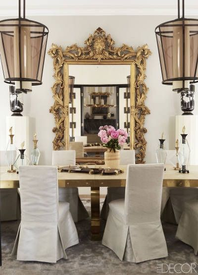 RusticGLAM, add metal to table-corners only maybe, large baroque mirror, change out light fixtures