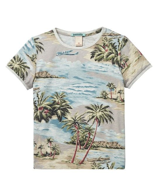 Short Sleeve Ringer Photo Print T Shirt Boy 51521