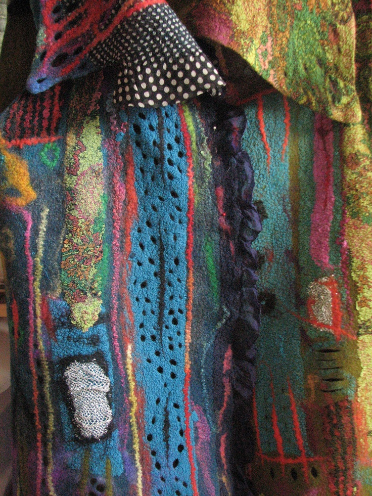 Andrea Graham: wearable felt art. Just took a class from her. She's amazing!