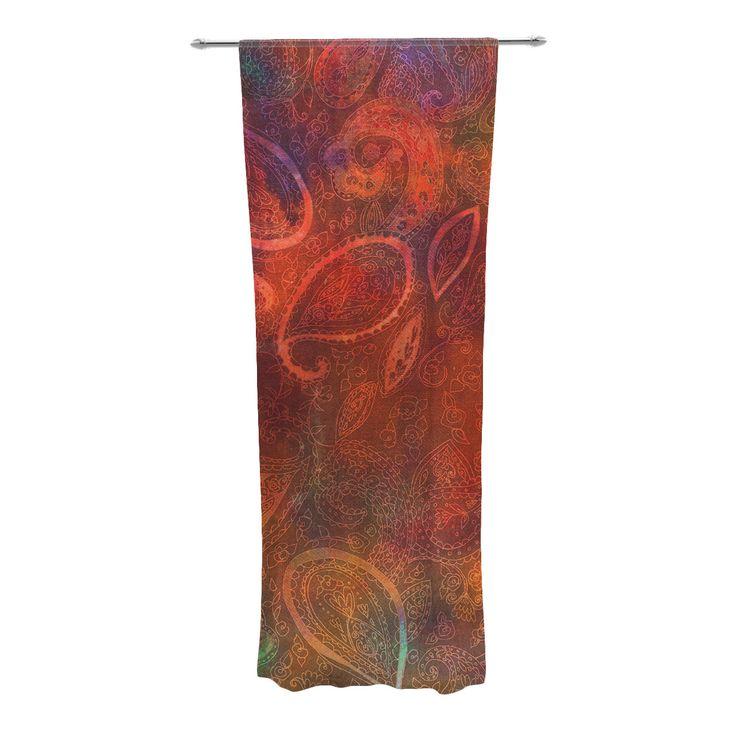 Tie Dye Paisley Curtain Panels
