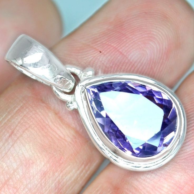 Cyber Monday sale 925 Sterling Silver Natural Hand Made Amethyst Pendant Jewelry