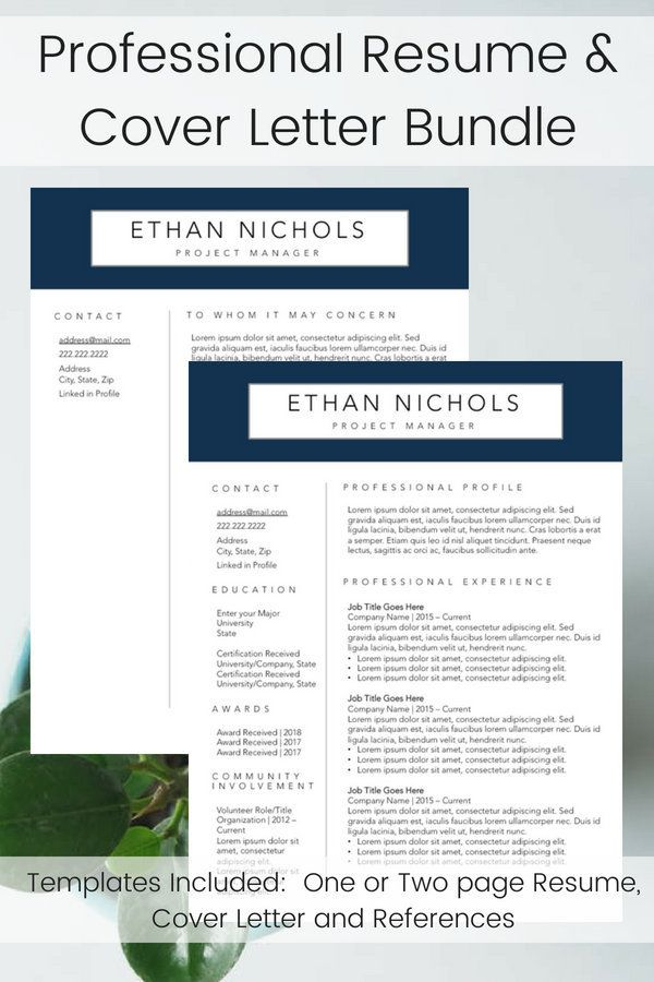 professional resume template men s resume builder navy and