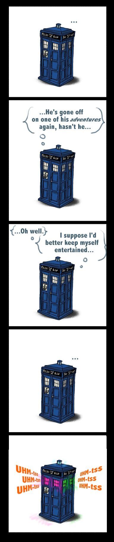 I don't even know it's just funny. TARDIS partying.