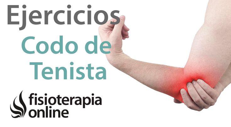 Epicondilitis o codo de tenista - Tratamiento con ejercicios, automasaje...