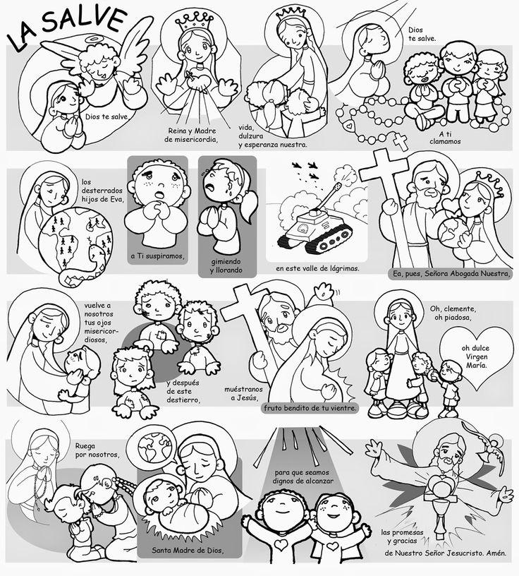 Dibujos para catequesis: LA SALVE