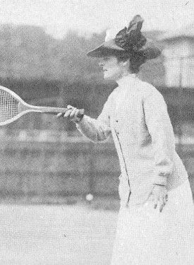 Maud Barger-Wallach, 1908 U.S. National Singles Champion, was inducted into Tennis Hall of Fame in 1958.  #tennis