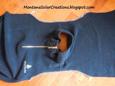 how to make a baby sleep sack from a sweatshirt or sweater - with zipper cover