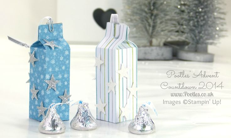 Pootles Advent Countdown #3 Hershey Kisses Hanging Bag tutorial made with a score board