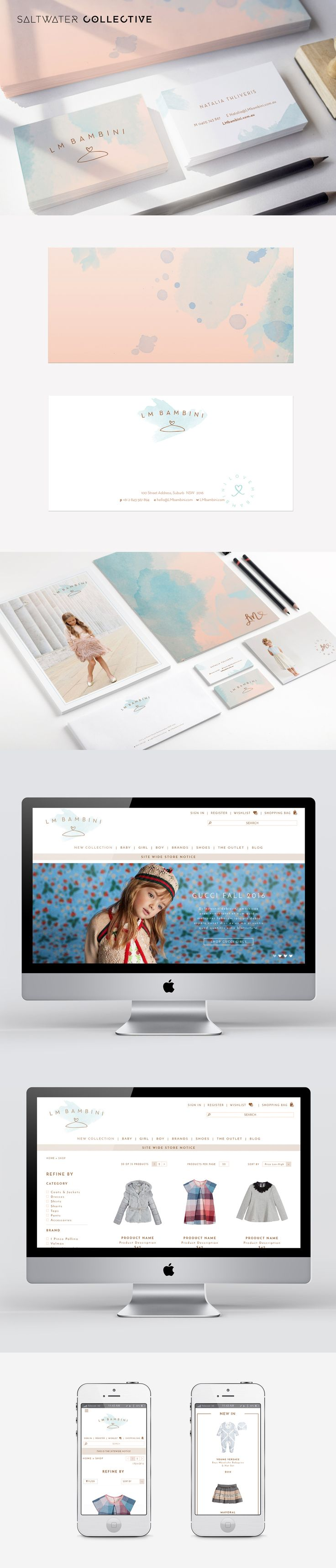 New brand and shopify website created for LM Bambini #DesignedBySWC