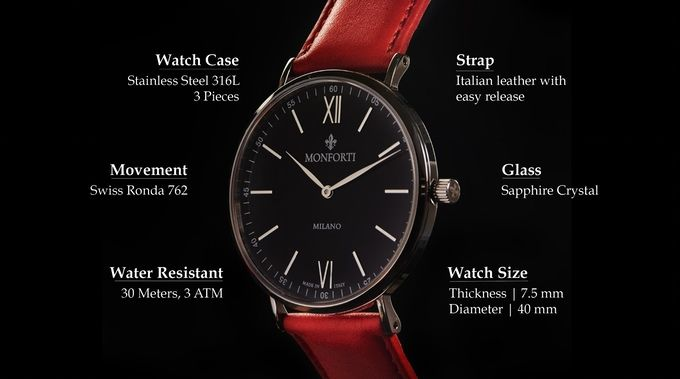 Italian design, Swiss movement and 22 quick-release leather straps for each occasion.