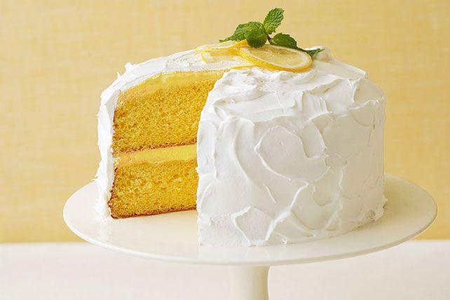 Le pouding au citron est une succulente garniture, et le glaçage fait de garniture COOL WHIP s'étale à merveille.