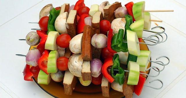 TODAS LAS RECETAS : Brochetas Vegetarianas