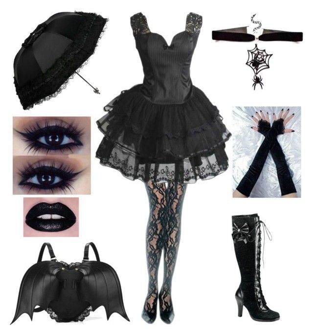 Goth by shadow-cheshire on Polyvore featuring polyvore fashion style Leg Avenue Demonia clothing