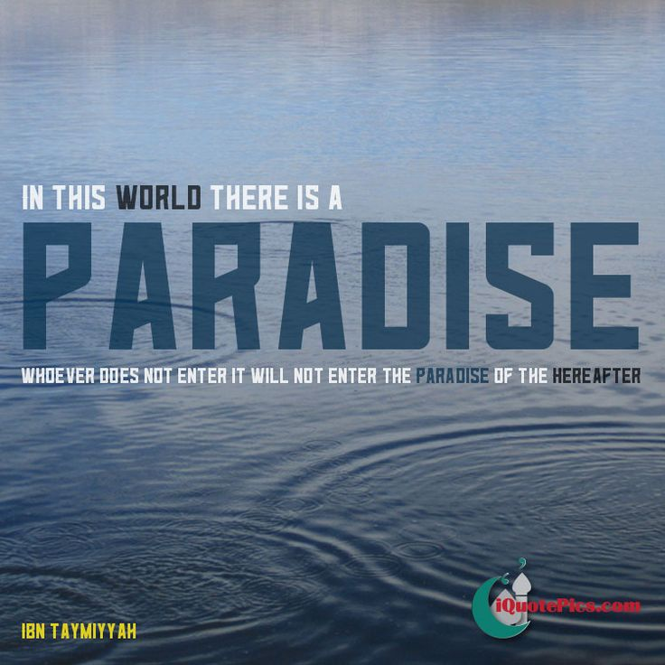 Find peace on Earth you'll find paradise and you'll also enter the paradise of the hereafter. A quote by Ibn Taymiyyah.