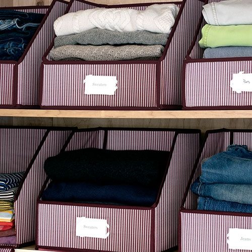 closet organization sweater bins- WOW! I need to do this one soon!