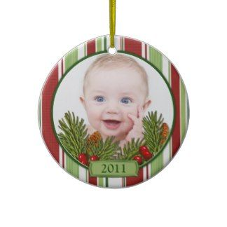 Baby's First Christmas Candy Stripes Ornament