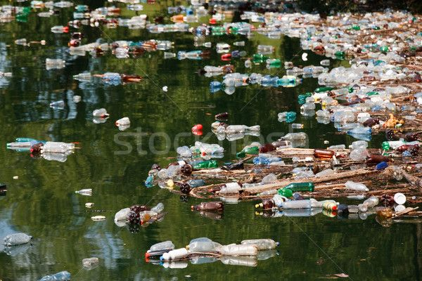 garbage in lake stock photo © Stéphane Bidouze (smithore ...
