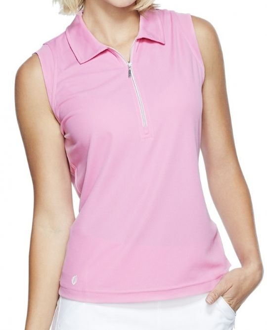 GGblue Ladies Katy Sleeveless Golf Polo Shirts – ESSENTIALS (Rose)