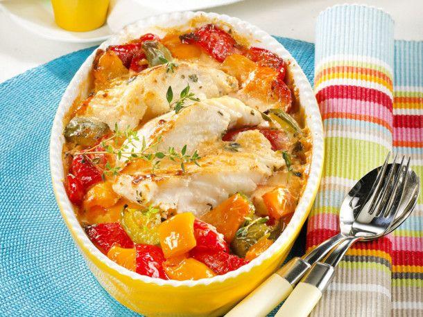 Paprika-Fisch-Auflauf Rezept | LECKER