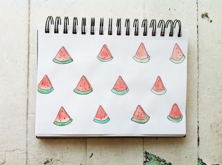 cute watermelon print, by caitlyn murphyPrints Pattern, Pattern Aww, Design Oasis, Inner Geek, Watermelon Stuff, Summertime Lucy, Caitlyn Murphy, Watermelon Prints, Kids Fffashion