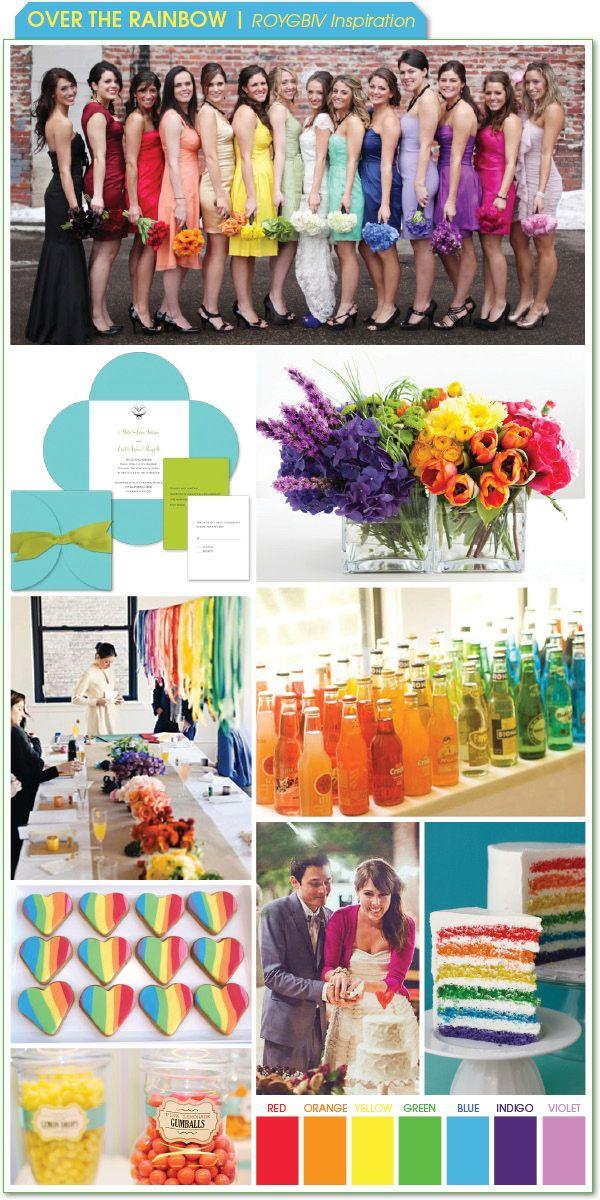 Over the Rainbow - ROYGBIV Inspiration :  wedding color schemes features Board3 Rainbow 031411 board3_rainbow_031411