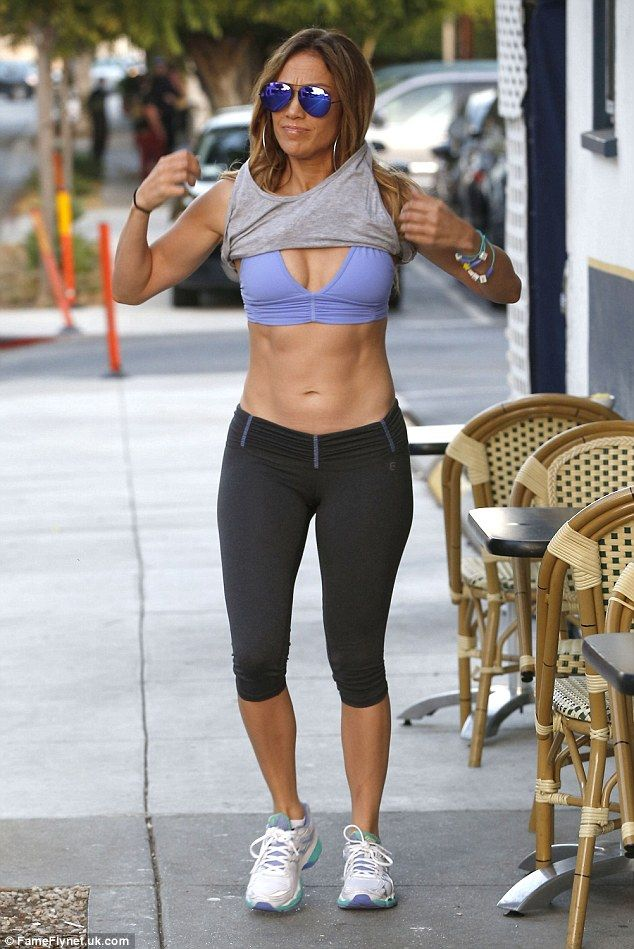 Fitness fanatic: Jennifer works hard to stay in shape and keep fit and healthy