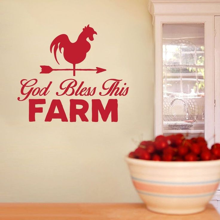God Bless This Farm Wall Decals Wall Stickers #Unbranded