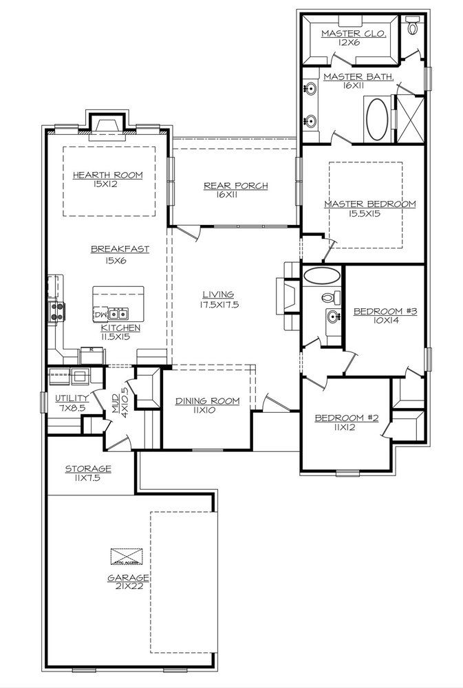 The Sage Thrasher 2120sf Floor Plans Ranch Small House Blueprints Ranch House Designs