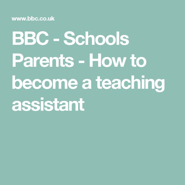 BBC - Schools Parents - How to become a teaching assistant