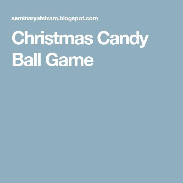 Christmas Candy Ball Game